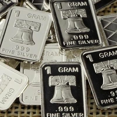 """ Liberty Bell "" - 1 Gram .999 Fine/solid Silver Bullion Art-Bar, Newly Minted"