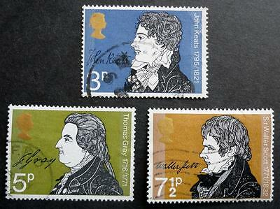 Great Britain 1971 'Literary Anniversaries' SG884/886 Used Set