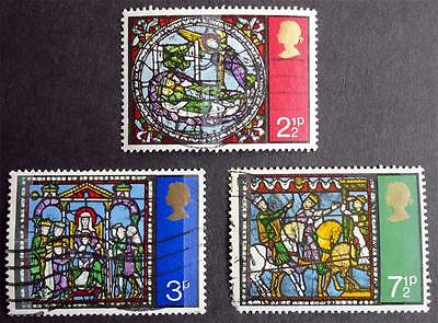 Great Britain 1971 'Christmas' SG894/896 Used Set