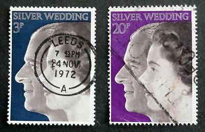 Great Britain 1972 'Royal Silver Wedding' SG916/17 Used Set