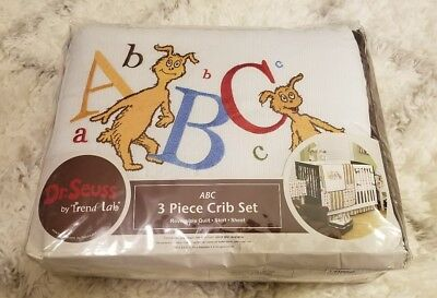 New Trend Lab Dr. Seuss ABC 3 Piece Crib Bedding Set