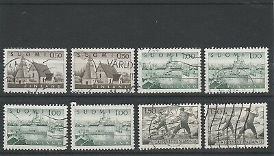 Finland - 1963 - 8 X  Used Stamps