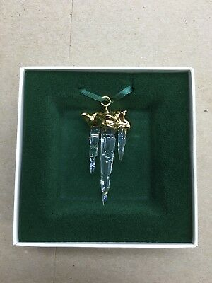 "SWAROVSKI CRYSTAL ""CHRISTMAS MEMORIES ICICLE ORNAMENTS "" brand new."