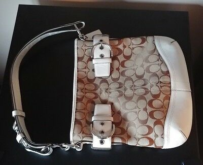 AUTHENTIC Coach Signature Canvas Soho Duffle L05K 3574 GREAT CONDITION FREE SHIP