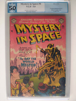 Mystery in Space # 6 PGX 5.0 Golden Age Beauty 1952 //CGC//CBCS