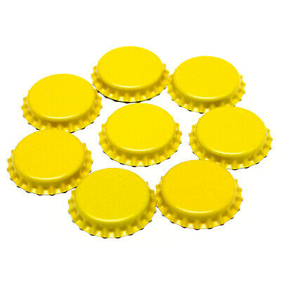 500 x YELLOW Crown Caps Capping 26mm Home Brew BOTTLING GLASS & PET -ᴓ26mm UK