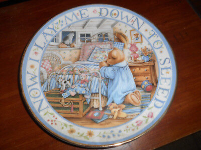 Royal Doulton Franklin Mint Teddy Bear Plate, numbered & signed-PICK ONE or more