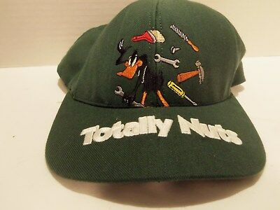 Vintage 1997 Daffy Duck Totally Nuts (Repairman) Cap-Green-Looney Tunes -Rare