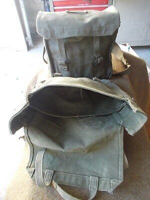 Lot Of Two,vintage,ww Ii,us Military,canvas ,demolition Satchel Bags,excellent
