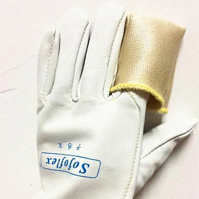 "TIG Finger Welding Gloves Heat Shield Cover Guard Heat Protection 15cm/5.9"" Fibe"