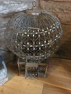 Decorative vintage display bird cage picclick uk for Cage d oiseau decorative