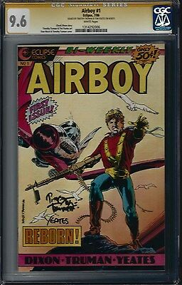 AIRBOY #1 (NM+) CGC 9.6 Signed 2x by TIMOTHY TRUMAN & TOM YEATES