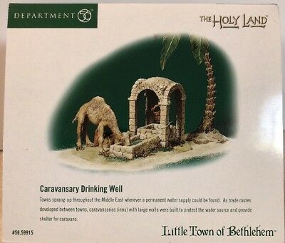 New! Dept 56 Little Town of Bethlehem Caravansary Drinking Well #59915 New!