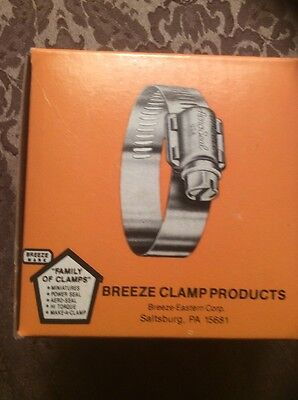 Breeze #12 Stainless Steel Hose Clamp 10 Pcs 62012
