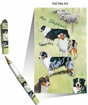 New Australian Shepherd Dog Designer Roller Pen in Gift Box by Ruth Maystead