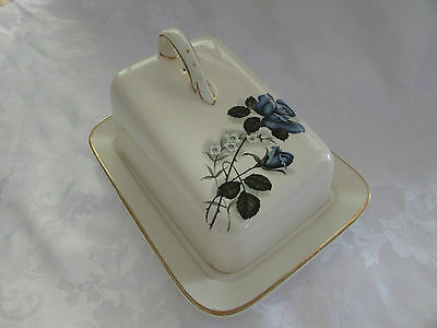 Sandland Hanley Staffordshire Cheese wedge butter dish Made in England Vintage