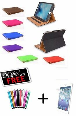"""Genuine TAN Stand Smart Magnetic Leather Case Cover For New Apple iPad 2017 9.7"""""""