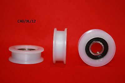 40mm Square Flat Nylon Pulley Idler Wheel, Ball Bearing different Diameters