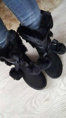 Women's Ladies Girls winter warm fluffy shoes causal sport size UK 3; 5; 6; 7