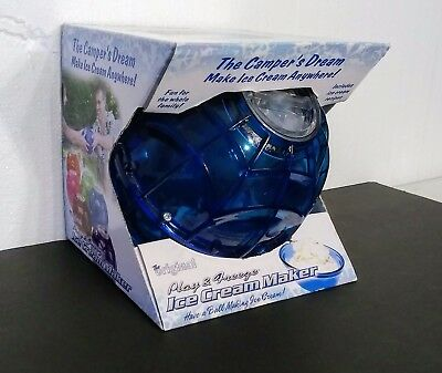 New! Play & Freeze Ice Cream Maker for Camping/Beach/Travel - Blue