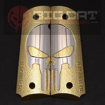 1911 Grips PISTOL GRIPS FULL SIZE 2 TONES 24K GOLD/NICKEL  SCREWS INCLUDED
