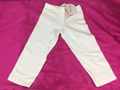 BNWT Indigo Marks & Spencer Girls (M&S) White Leggings Age 6-7