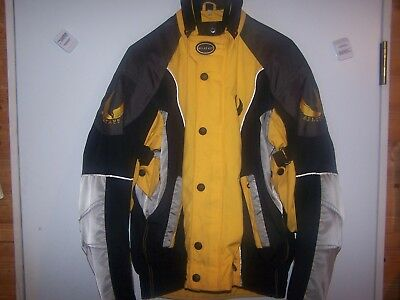 Mens Belstaff Competition Motorcycle Jacket Size Medium Black/yellow/silver