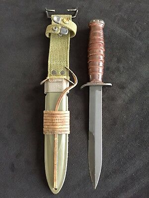 Minty Unused WWII 2 USM3 US M3 Camillus Trench Fighting Knife US M8 Scabbard Exc