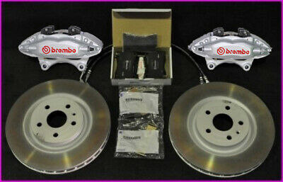 Genuine VF HSV Redline Brembo Front Brake Kit Calipers Pads & Discs (Silver / Re
