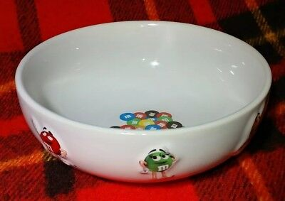 """Ceramic Candy Dish With Raised M & M's Characters On Outside ~ 6"""" Across ~ NICE!"""