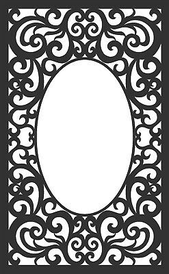 DXF of Laser Cut -CNC Vector DXF-CDR - AI  Art  MIRROR file