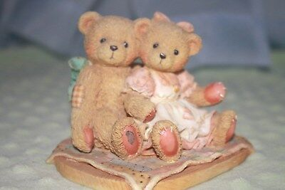 "Cherished Teddies Figurine Nathaniel & Nellie ""It's Twice as Nice With You"""