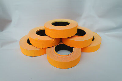 2-50 Rolls Paper Labels **ORANGE** 16x23mm for Motex MX6600/mx6600EOS