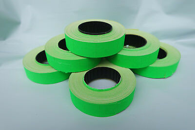 2-50 Rolls Paper Labels **GREEN** 16x23mm for Motex MX6600/mx6600EOS