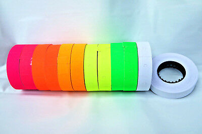 12 Rolls, 6 Colours Paper Lablels 16x23mm for Motex MX6600/mx6600EOS/ dual line