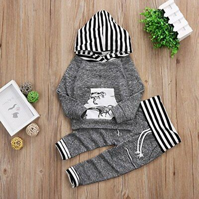 Fashion Toddler Baby Boys Tops Hoodie Pants Home Outfits 2Pcs Set Clothes 0-4T