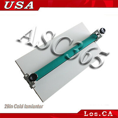 "29.5"" Manual Cold Roll Laminator Mount Laminating Machine 750MM US Free Shipping"