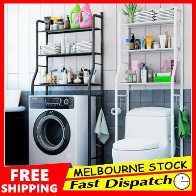 Over Toilet Rack Bathroom Laundry Washing Machine Storage Shelf Unit Organizer