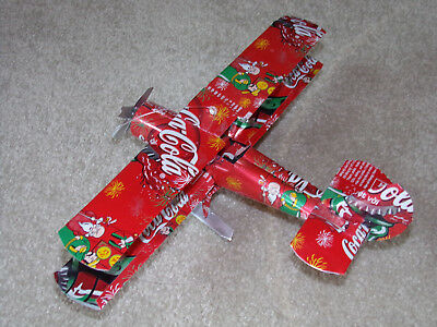 Vintage Coca Cola Soda Pop Can Airplane Wind Spinner Collectible Hanging Art