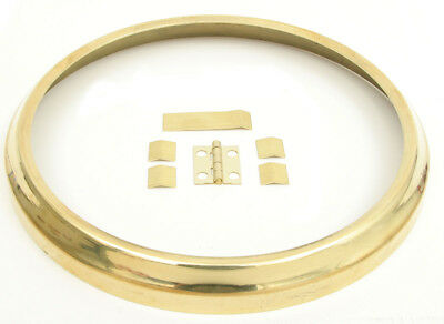 "New Brass Clock Bezel Dial Ring with Hinge - Choose from 3-1/8"" to 15"""