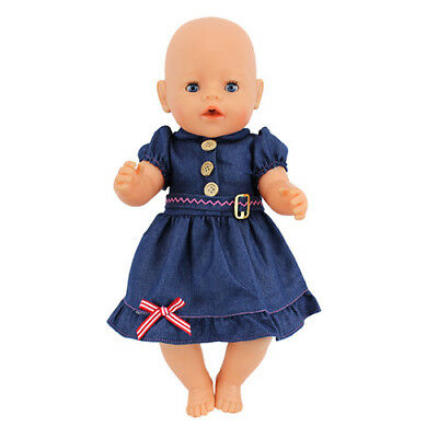 Cowboy dress Doll Clothes Wearfor 43cm Baby Born zapf (only sell clothes)
