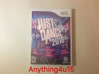 BRAND NEW & SEALED Just Dance 2018 (Nintendo Wii) FREE SHIPPING