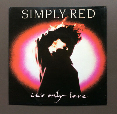 """SIMPLY RED - It's Only Love 7"""" Vinyl Record Single 45 VG Australian Pressing"""