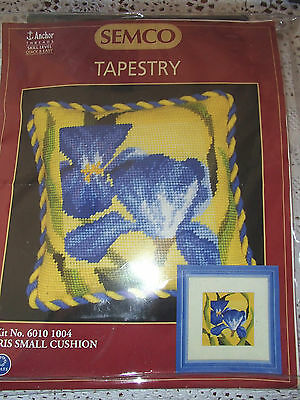 A Semco Tapestry Kit for small cushion Iris design new/unworked