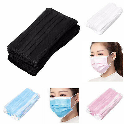 50Pcs Disposable Surgical Face Anti-Dust Clean Hygienic Medical Mouth Masks Set