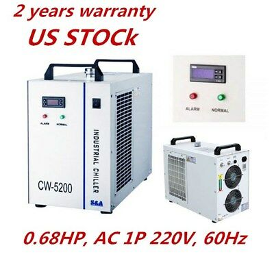 US Stock-S&A 220V 0.68HP CW-5200BH Industrial Water Chiller for Welding Machine