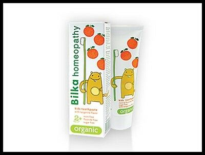 Bilka Homeopathy Kids Toothpaste 2+ Organic 100% Natural Product  50ml