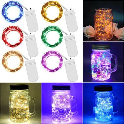New 10//20//30 LEDs Battery Micro Rice Wire Copper Fairy String Light Party Decor