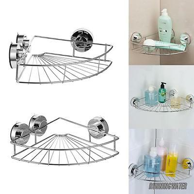 AU Super Strong Suction Cup Corner Basket Shower Caddy Organizer Stainless Steel