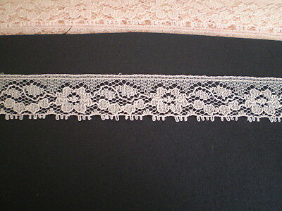 11.18 metres x 18mm  of pretty beige/faun coloured lace
